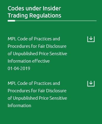 Codes under Insider Trading Regulations